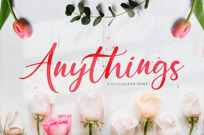 Thumbnail for Anythings - Calligraphy Font