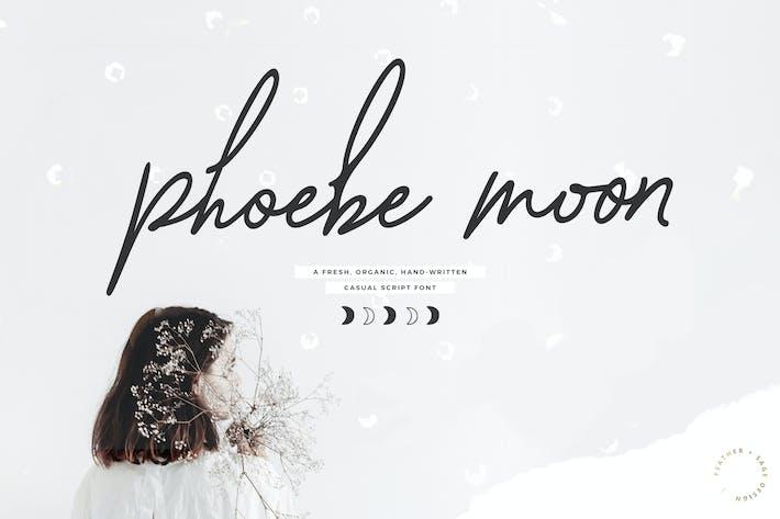 Thumbnail for Phoebe Moon Script Font
