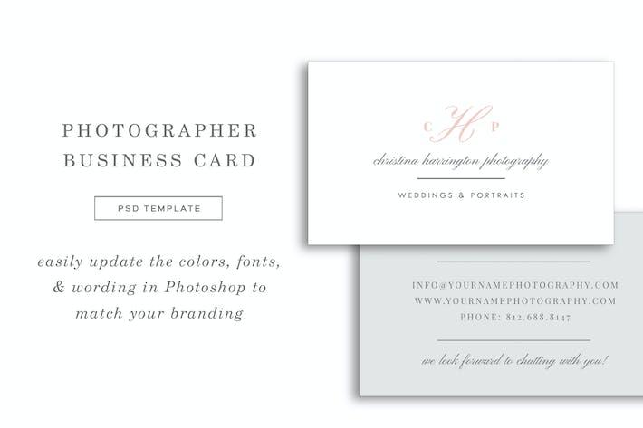 Thumbnail for Wedding Photographer Business Card Design