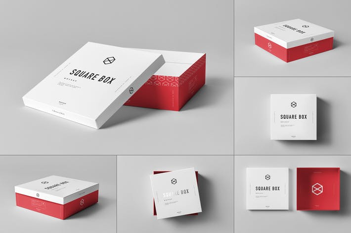 Thumbnail for Square Shoe Box Mock-up