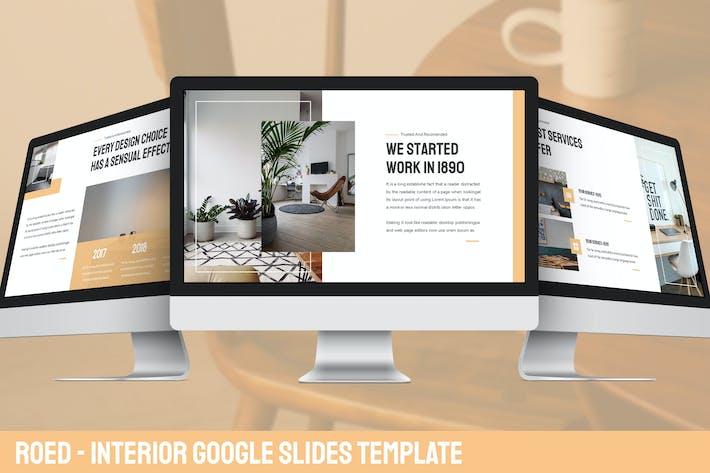 Thumbnail for Roed - Interior Google Slides Vorlage