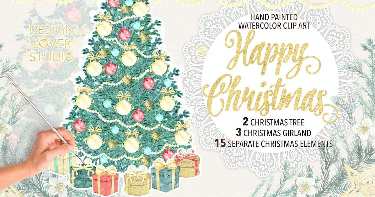 "Download Watercolor ""Christmas tree"" design by designloverstudio"