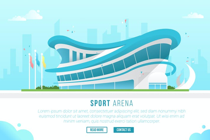 Thumbnail for Sport Arena - Vector Landscape & Building