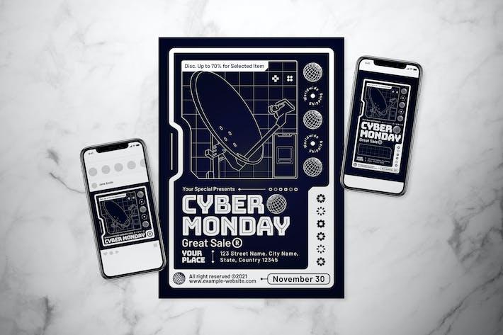 Cyber Monday Flyer Set