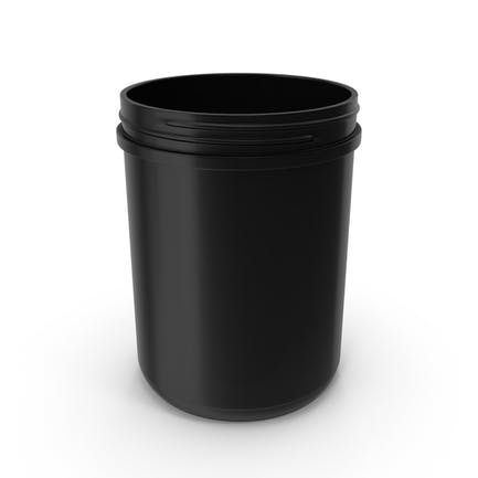 Plastic Jar Wide Mouth Straight Sided 60oz Without Cap Black