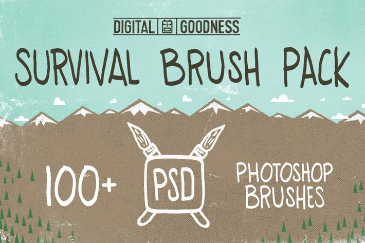 Thumbnail for PSD Survival Brush Pack