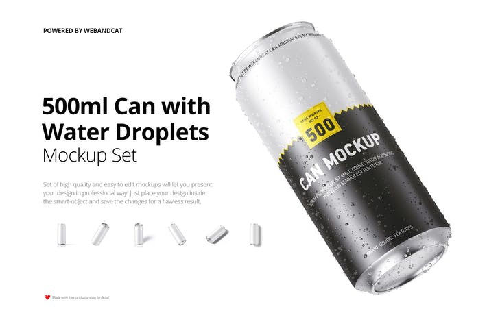 Thumbnail for Maquette de 500 ml avec des gouttelettes d'eau