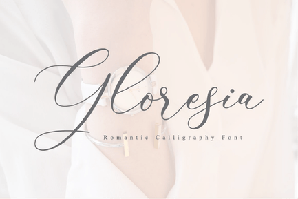 Gloresia - Роскошный шрифт