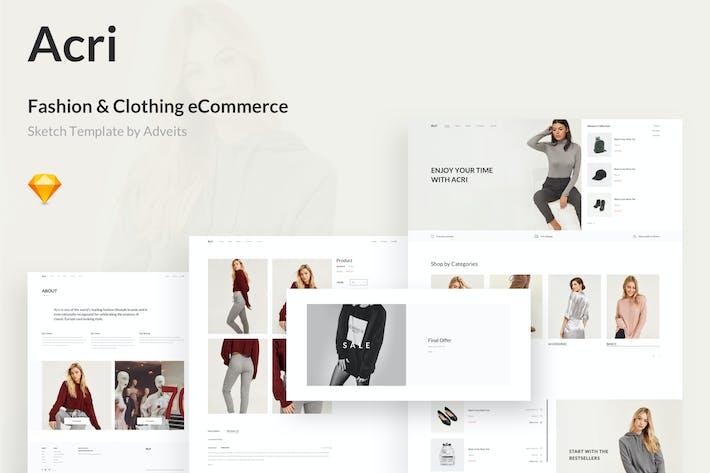 Thumbnail for Acri - Fashion & Clothing eCommerce Sketch Templat