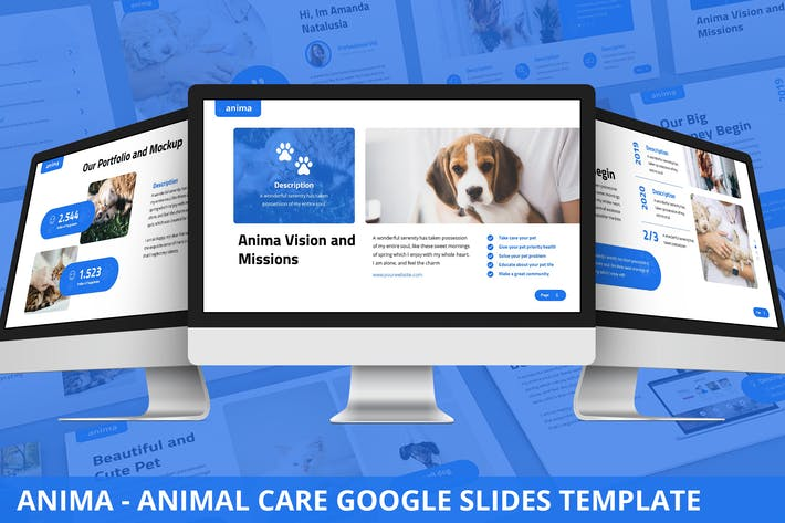 Thumbnail for Anima - Animal Care Google Slides Template