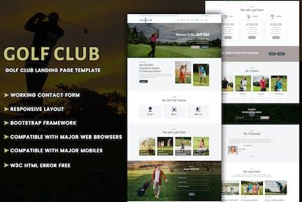 Golf Club - Multipurpose Responsive HTML Landing P
