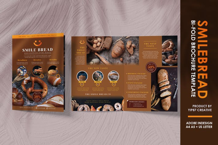 Bread Bakery Bifold Brochure