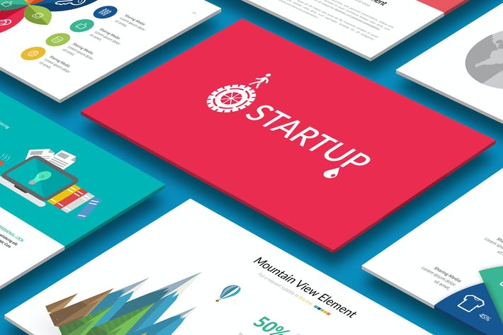 Thumbnail for STARTUP Powerpoint-Vorlage
