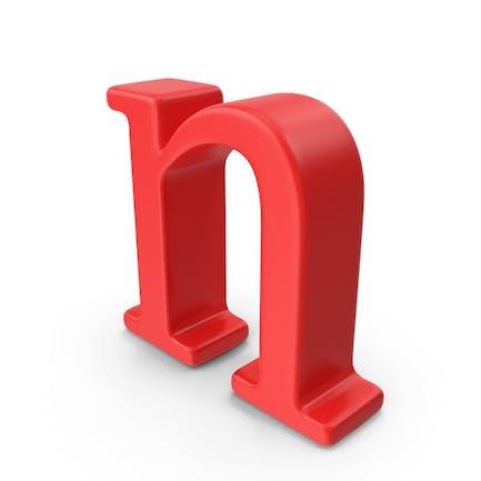 Letra roja minúscula n