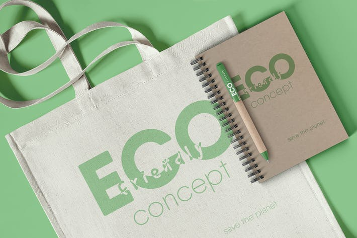 Thumbnail for Branding Eco Concept Mockup