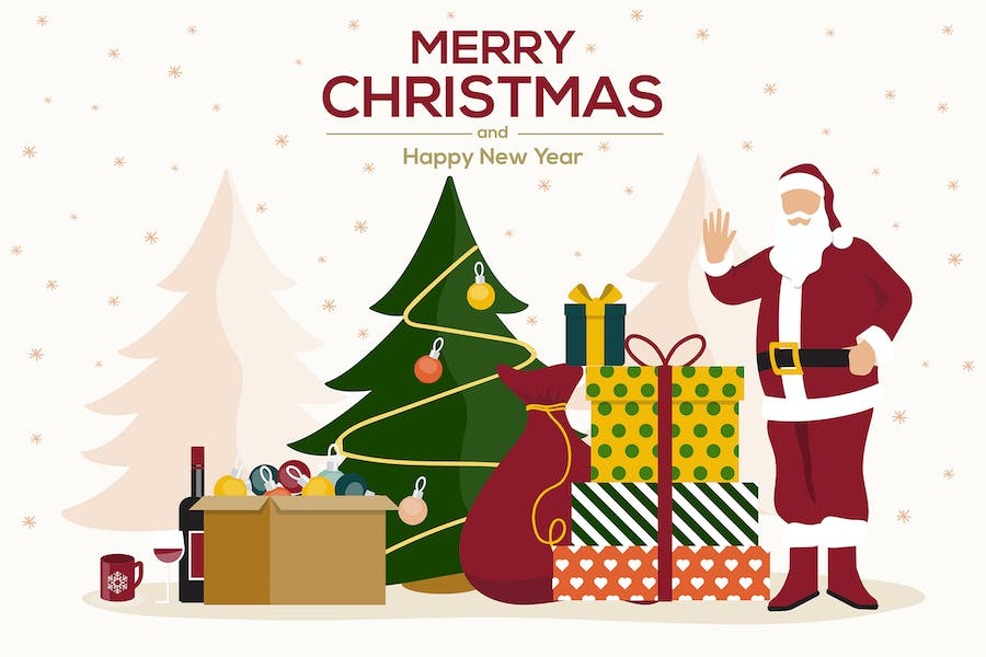 Holiday greeting cards, Happy Holidays banners
