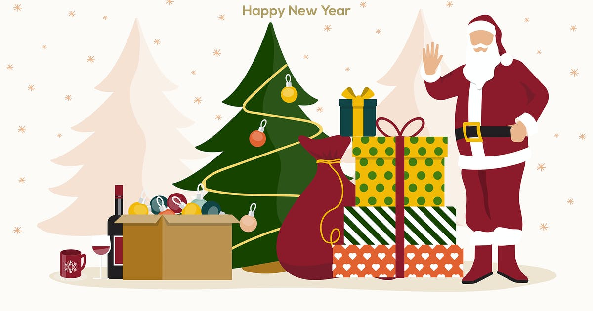 Download Holiday greeting cards, Happy Holidays banners by graphics4u
