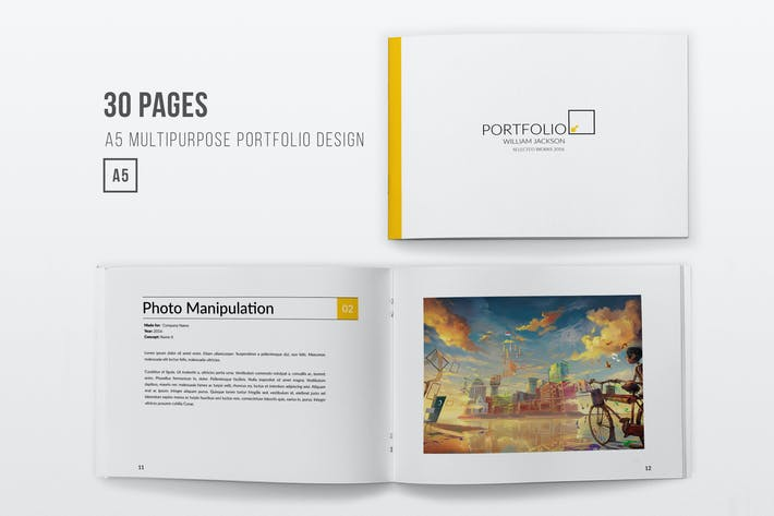 Thumbnail for A5 Horizontal Multipurpose Portfolio - 30 Pages