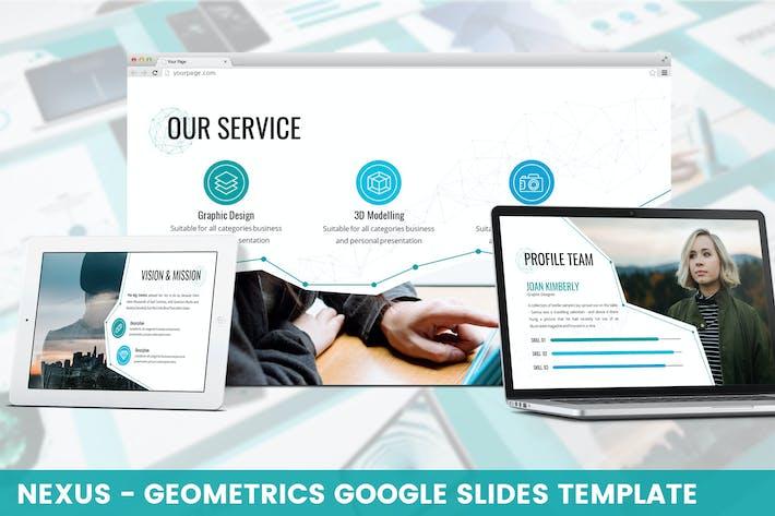 Thumbnail for Nexus - Geometrics Google Slides Template