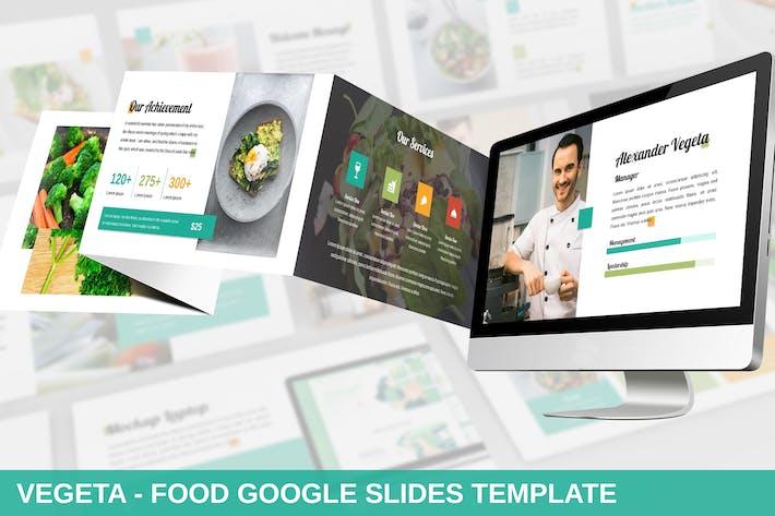 Cover Image For Vegeta - Food Google Slides Template