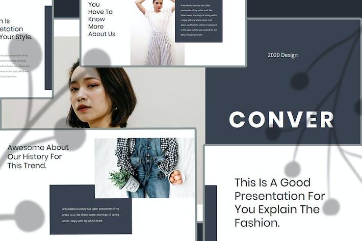 Thumbnail for Conver — творческий бизнес-PowerPoint Шаблон