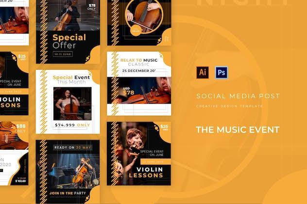 Music Event Social Media Post