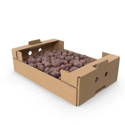 Cardboard Box with Purple Potatoes