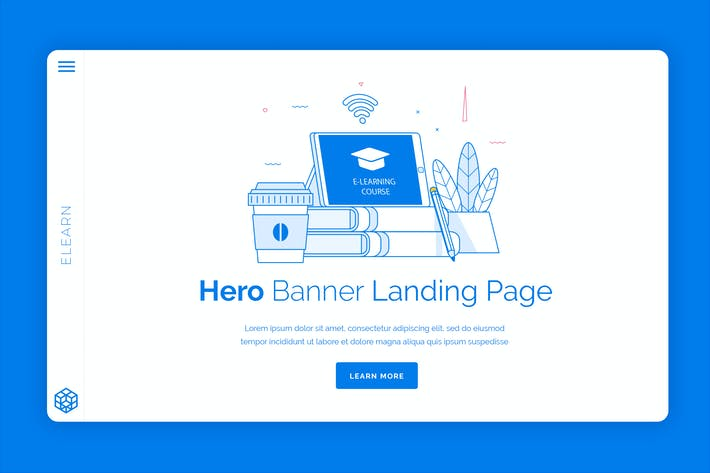 Thumbnail for Elearn - Hero Banner Template