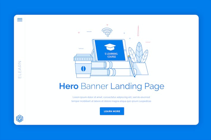 Elearn - Hero Banner Template