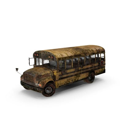 Verwitterter Schulbus
