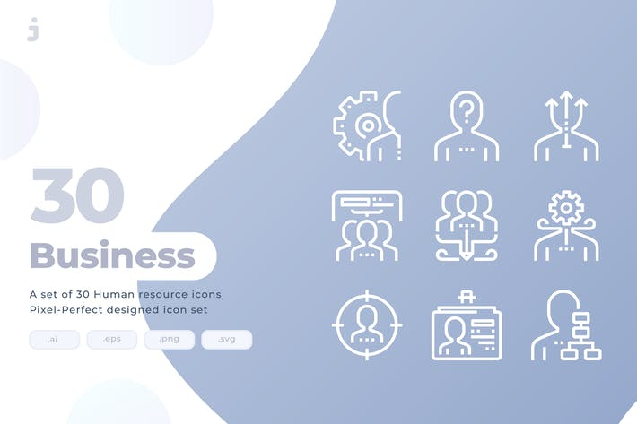 Thumbnail for 30 Human resource Icons