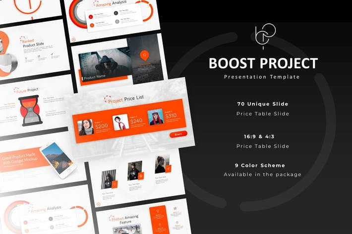 Thumbnail for Boost Project Powerpoint Template