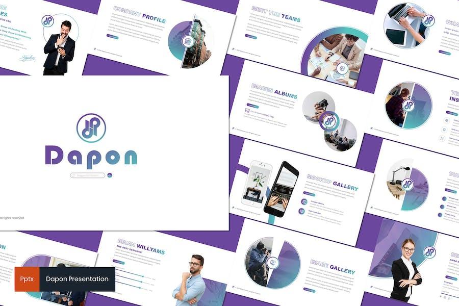Dapon - Простой Шаблон Powerpoint