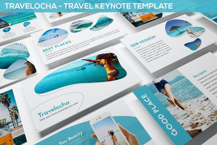 Thumbnail for Travelocha - Travel Keynote Template