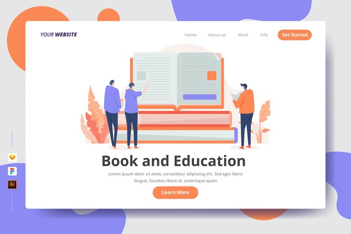 Thumbnail for Book and Education - Landing Page