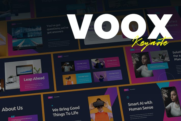 Thumbnail for Voox - Creative Business Keynote Template