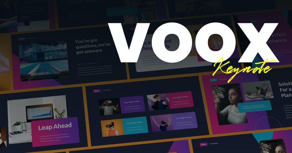 Download Voox - Creative Business Keynote Template by Slidehack