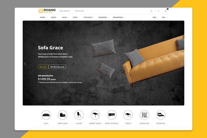 Thumbnail for Divano - Furniture HTML Template