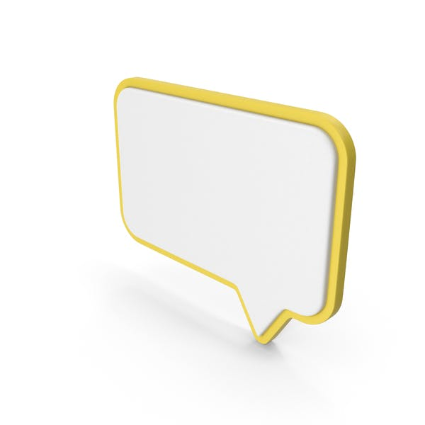 Speech Bubble Yellow