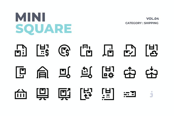 Thumbnail for Mini square - 60 Shipping Icons