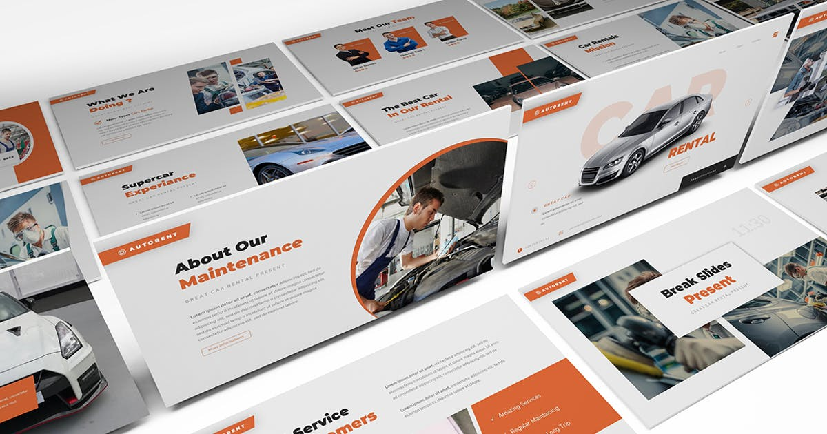 Download Autorent Car Rental Powerpoint Template by Formatika