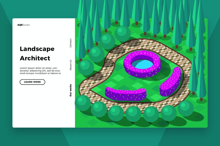 Landscape Architect - Banner & Landing Page