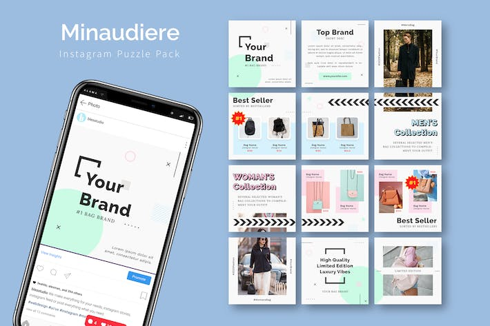 Thumbnail for Minaudiere - Instagram Puzzle Template