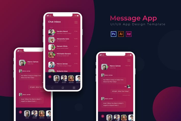 Thumbnail for Messages | App Template
