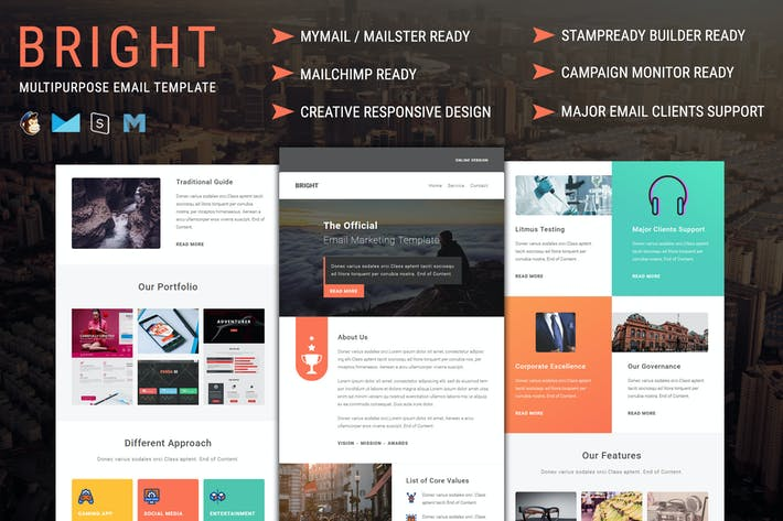 Thumbnail for Bright - Multipurpose Responsive Email Template