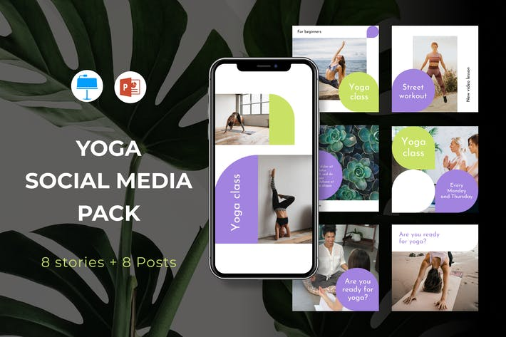 Instagram Powerpoint and Keynote Templates
