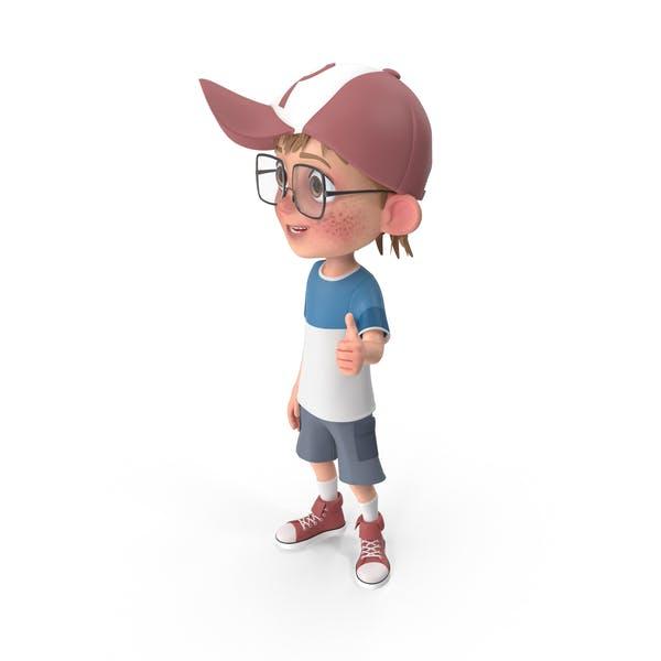 Cartoon Boy Thumbs Up