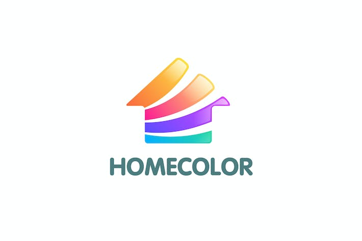 Thumbnail for Modern Colorful Home Color Logo