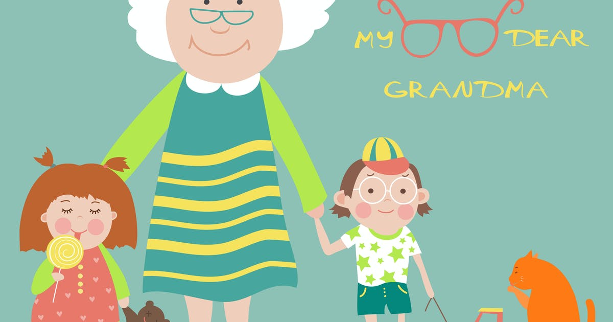 Download Grandmother with grandson and granddaughter by masastarus