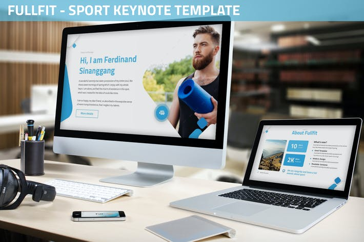 Thumbnail for Fullfit - Sport Keynote Template
